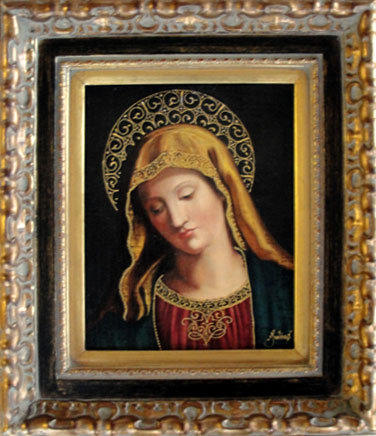 Virgin Mary Original Oil Painting - Virgen by Julius