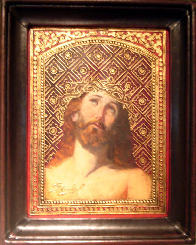 Christ Original Oil Painting - Cristo del Golgota by Mendoza