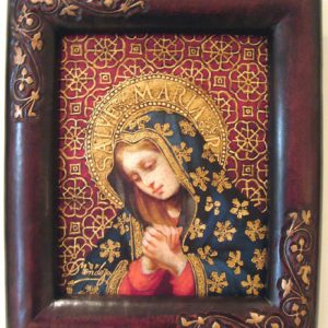 Virgin Mary Original Oil Painting - Virgen del Alto by Mendoza