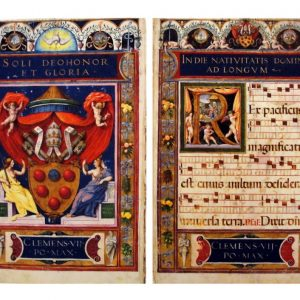 Diptych - Chant & Papal Crown, 1530 by Raymond & Herculaneo