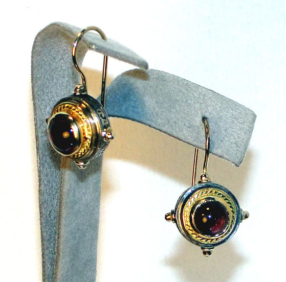 Pink Tourmaline Wire Earrings by Konstantino