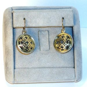 Cross-Pierced Round Wire Earrings by Konstantino