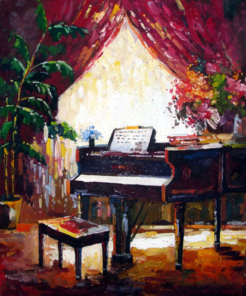 Music Room - Original Oil Painting