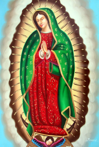 Our Lady of Guadalupe by Jimmy - Original Oil Painting