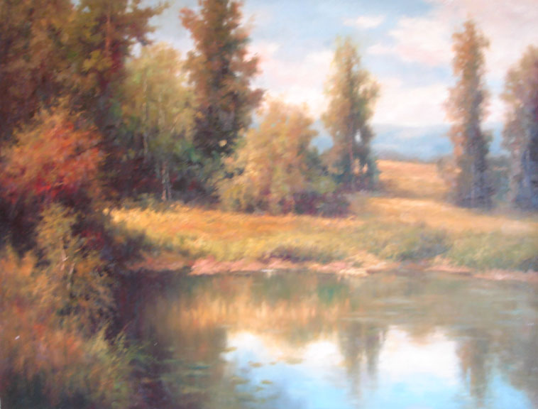 Woodland Lake - Original Oil Painting