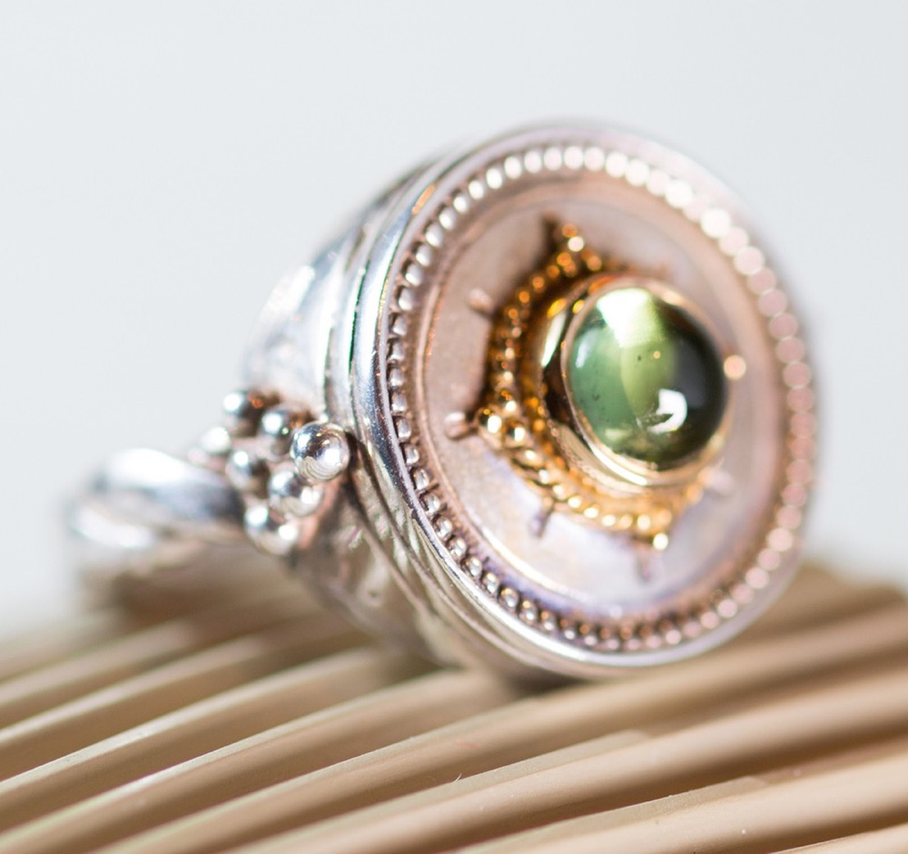 Green Tourmaline Ring by Konstantino